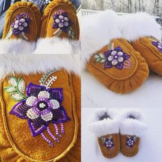 Beaded Flowers Patterns, Native Beading Patterns, Beadwork Designs, Seed Bead Patterns, Native Beadwork, Native American Beadwork, Couture Cuir, Beaded Moccasins, Bead Sewing