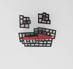 One of a kind designer jewelry set  brooch&earrings by DecoUno