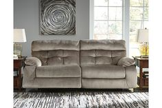 Brassville Power Reclining Sofa by Ashley HomeStore, Graystone Sofa And Loveseat Set, Power Reclining Sofa, Ashley Furniture, Sofa, Furniture, Ashley Furniture Homestore, Wide Seat Recliner, Home Decor, Power Recliners