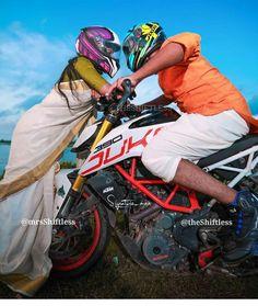 Biker Photography, Indian Wedding Photography Poses, Couple Photography Poses, Bike Photoshoot, Couple Photoshoot Poses, Couple Posing, Love Couple Photo, Cute Love Couple, Photo Poses For Couples