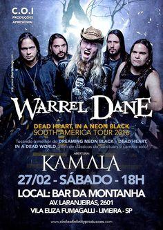 Warrel Dane em Limeira: confira teaser promocional