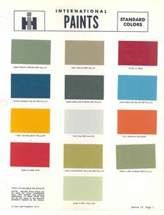 Paint Chart | International Harvester