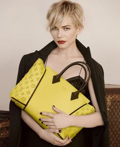 Louis Vuitton, yellow handbag