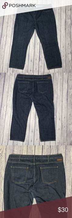 7ac2afcb90d24e Boden Dark Washed Cropped Skinny Jeans Size 14R Boden dark wash cropped  skinny jeans. In very good gently used condition. Size 14 regular.