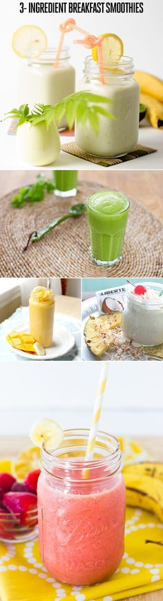 3- Ingredient Breakfast Smoothies
