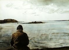 """Andrew Wyeth paintings display one after the other in this video, while the song """"Sempre e per Sempre"""" is sung by Francesco de Gregori. I love this Italian song even more than the art. Andrew Wyeth Prints, Andrew Wyeth Paintings, Andrew Wyeth Art, Jamie Wyeth, Wyeth Blue, Klimt, Nc Wyeth, Art Plastique, Caravaggio"""