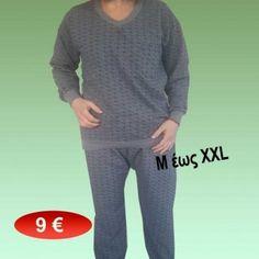 Ανδρικές πιτζάμες ζεστές Μεγέθη Μ-XXL 9,00 €
