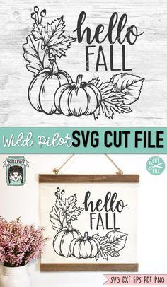Pumpkin Wreath, Fall Projects, Silhouette Cameo Projects, Fall Signs, Fall Crafts, Decor Crafts, Hello Autumn, Flower Frame, Journal Cards