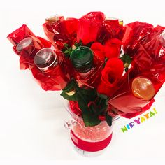 The Booze Bouquet® Bottles) (Pre-order for Mother's Day 21st Birthday, Girl Birthday, Birthday Ideas, Booze Bouquet, The Ultimate Gift, Silk Roses, Valentines Day, Romantic, Gift Ideas