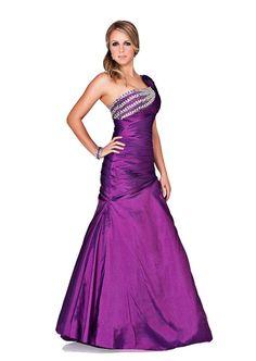 Adna Designs 1047 One Shoulder Long Taffeta Prom Dress