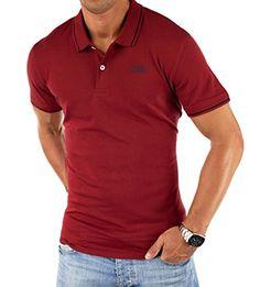 Jack & Jones Herren Poloshirt CHARLIE Oberteil in Rot Größe XL Slim Fit