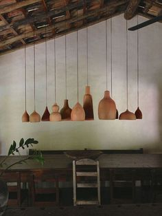 The Design Walker • terracotta pendant lights. Country style.:...