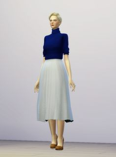 Lana CC Finds - Half Sleeves Turtle-Neck Sweater Dress by Rusty Nail