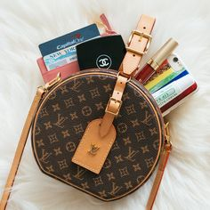 "PurseBlog on Instagram  ""WHAT FITS 🤔 The  louisvuitton Petite Boite  Chapeau is tiny but totally adorable! It doesn t hold much e44beed56f852"