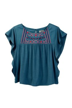 Woven Knit Flowy Top (Toddler Girls) by Lucky Brand on @nordstrom_rack