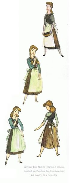 Disney Princesses - Les Heroines Disney - Cinderella sketches and concept art