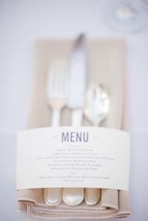 Dinner party idea for menu cards