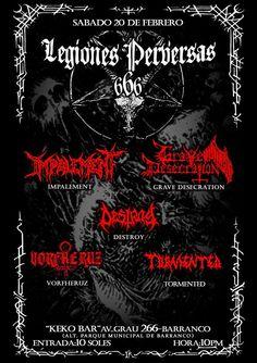 METALHOUSE: LEGIONES PERVERSAS 666 - Sáb 20 Febrero - Barranco...