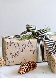 Handwritten brown paper packages