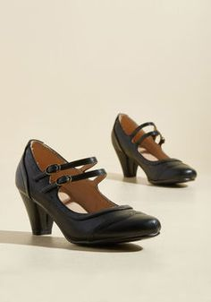 To Shoe It May Concern Mary Jane Heel in Black