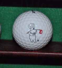 Pillsbury Doughboy Logo Golf Ball. Titleist.