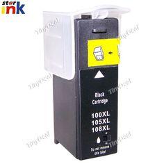 (STARINK) 21.5ml Replacement Black Ink Jet Cartridge 100XL for Lexmark Printers YPC-154558 Kodak Printer, Black Ink Cartridge, Printers, All In One, Jet