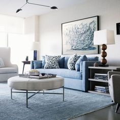blue interior design 2019 blue interior design The post blue interior design 2019 appeared first on Sofa ideas. Blue Couch Living Room, Home Living Room, Living Room Decor, Decor Room, Light Blue Couches, Bleu Turquoise, Living Room Inspiration, Interiores Design, Blue Sectional