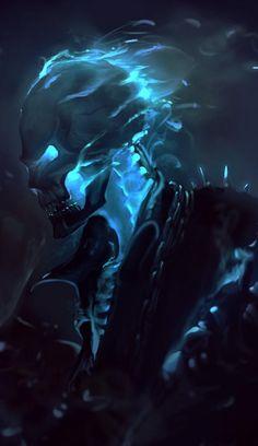Danny Ketch Ghost Rider by Roméo Jonathan. Fantasy Kunst, Dark Fantasy Art, Dark Art, Ghost Rider Wallpaper, Marvel Wallpaper, Comic Books Art, Comic Art, Rauch Tapete, Ghost Rider Marvel