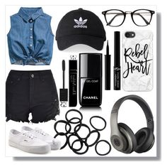 """""""Concert OOTD"""" by cianne-hale ❤ liked on Polyvore featuring adidas, Casetify, Beats by Dr. Dre, Chanel, Vans, Giorgio Armani, Christian Dior, concert, ootd and accessories"""