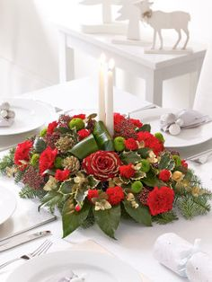Christmas Candle Arrangement from Interflora #MyInterfloraChristmas
