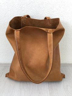 Brown, hand-sewn leather bag no. 2 Brown hand-sewn leather bag no. Cheap Handbags, Tote Handbags, Purses And Handbags, Luxury Handbags, Popular Handbags, Large Handbags, Brown Leather Totes, Cow Leather, Vintage Leather