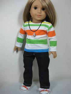18 inch Doll Clothes American Girl 4 Piece Fleur von nayasdesigns, $32,00
