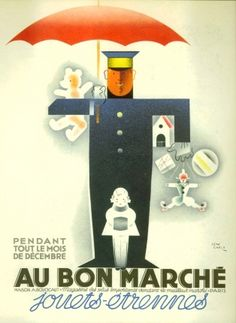 French poster,  vintage