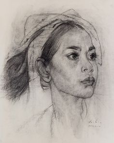 Portrait drawings (from life & master studies) on Behance