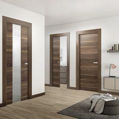 OBOE NOGAL - Leroy Merlin Interior Columns, Door Design Interior, Corridor Design, Hall Design, Modern Wooden Doors, Home Office Cabinets, Oboe, Bedroom Door Design, Design Case