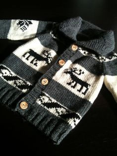 Childrens' Sweater Custom Pure Wool Cowichan Style by saintpierre, $65.00