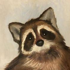 "Daily Paintworks - ""Sweet Raccoon"" - Original Fine Art for Sale - © Susie Bytheway"