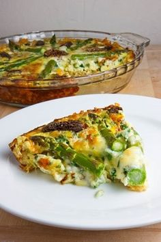 Asparagus, morel and ramp quiche with a brown rice crust from Closet Cooking