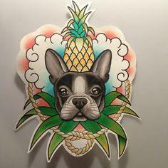 french bulldog tattoo|  @clareclarity