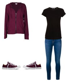 """""""Untitled #269"""" by white-wolf1 ❤ liked on Polyvore featuring Velvet by Graham & Spencer, Frame Denim, Converse and Vince"""