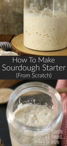 Learn how to make sourdough starter at home, and continue a centuries old tradition! This easy DIY guide covers everything you need to know to grow your own sourdough starter from scratch with no special ingredients. via How To Make Sourdough Starter Sourdough Bread Starter, Yeast Starter, Bread Recipes, Cooking Recipes, Starter Recipes, Bread Machine Recipes Healthy, Cooking Pork, Artisan Bread, How To Make Bread