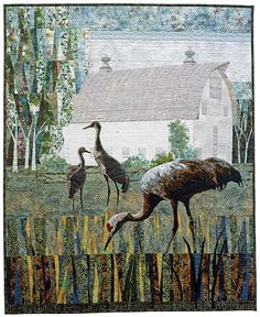 Taking Refuge by Karin Franzen, many more art quilts on this link