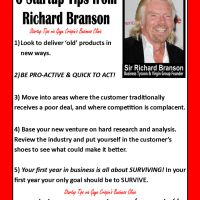 Six Startup Tips by Sir Richard Branson