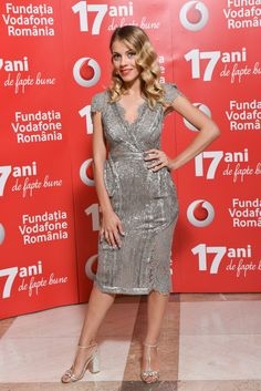 Actress Andreea Ibacka wearing CRISTALLINI at The Vodafone Foundation Gala 2015!