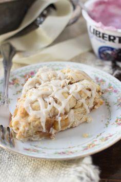 Brown Butter Glazed Apple Pie Scones - Oh Sweet Basil