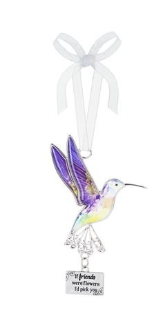 Hummingbird Ornament - If friends were flowers I'd pick you Price $7.99 Gag Gifts
