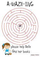 Poppy Makes… a Beauty & the Beast inspired maze. Help Belle find her books and download this FREE printable maze in PDF format on my blog: poppymakesdiy.blogspot.com. Don't forget to checkout my other colouring printables as well. All printables are designed and made by me. Have fun! #PoppyMakes #Maze #Search #Find #Seek #Colouring #Page #Colouringpage #Kleurplaat #FREE #Download #GRATIS #PDF #Printable #Printables #Template #DIY #Disney #Beauty #Beast #Belle #Gaston #LeFou #Lumiere…