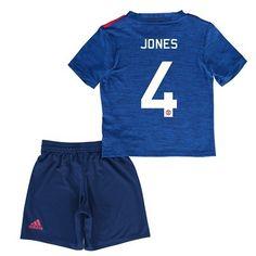 Děti Manchester United 16-17 Phil Jones 4 Venkovní Krátký Rukáv #Fotbalové    #dresy  #levně
