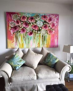 ★#artbybrooks #large art #floral