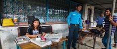 Laxmi, 19, enjoys her new internship at the Boudhanath police station. SASANE organization rescued Laxmi from a rural village, where she had been trafficked, and is helping her rebuild her life with this internship and rights trainings.